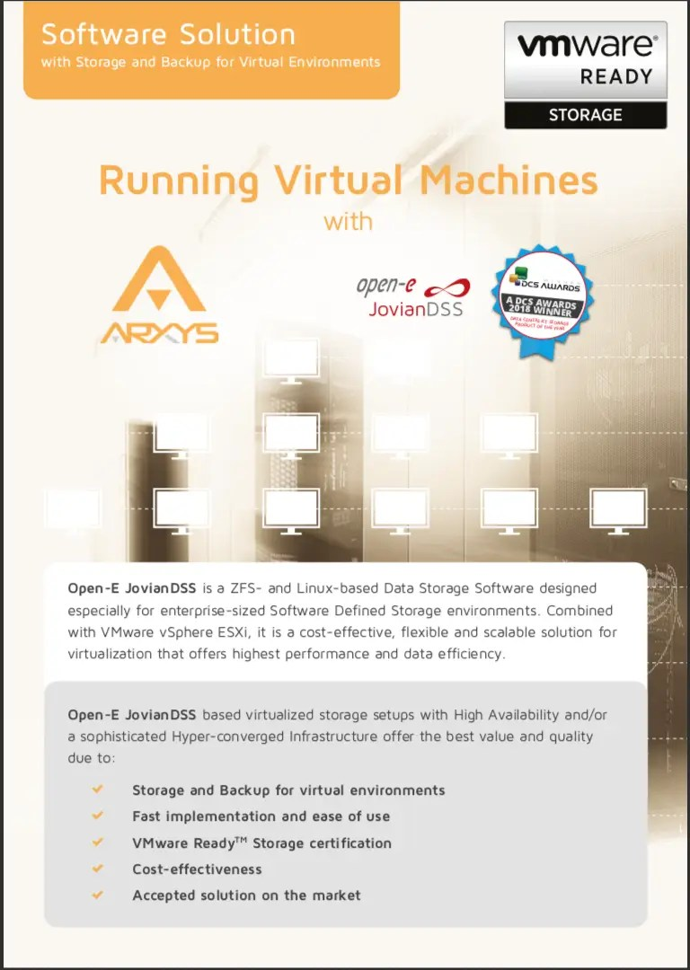 Running Vmware Virtual Machines With Software Defined Storage Arxys