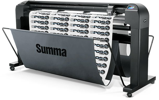 SUMMA CUTTING PLOTTER Cutting width up to 123 cm. For cutting and pre-cutting vinyl, adhesive and flexible materials. High precision and speed.