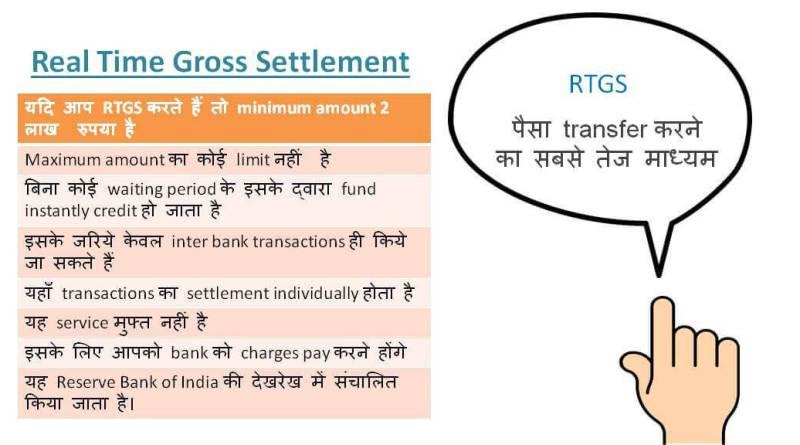 RTGS kya hota hai? जानिये पूरी जानकारी हिंदी में