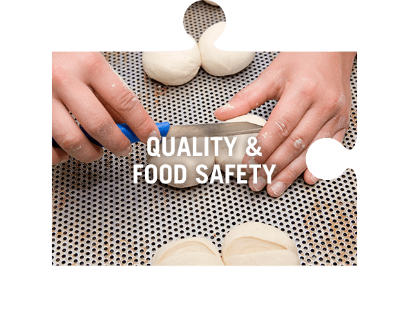 Quality and food safety jigsaw piece