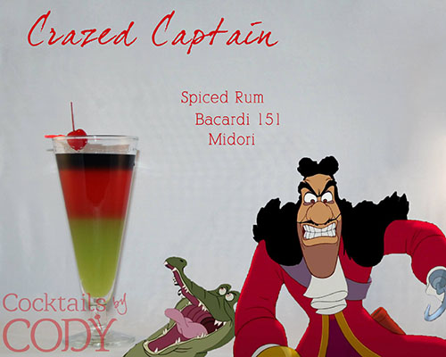 Cocktail Disney Captain Hook by Cody