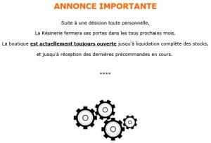 La Résinerie annonce site