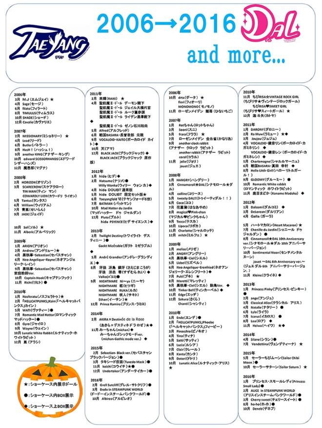 Liste Dal Taeyang