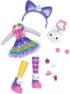 Kuukuu Harajuku fashion set Rainbow Unicorn