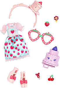 Kuukuu Harajuku fashion set Super Strawberry