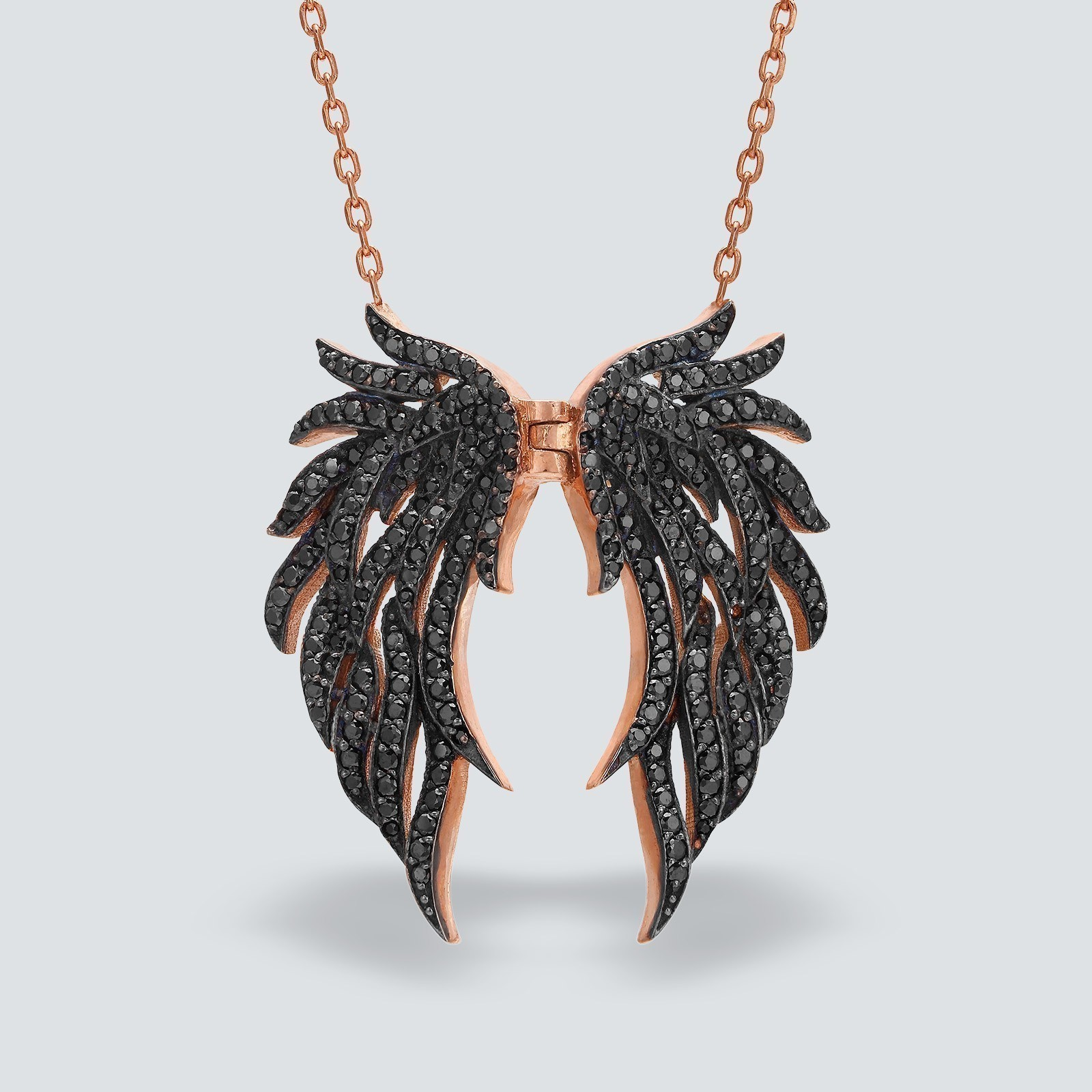 silver wings with sterling angel and jewelry pendant gold in diamonds