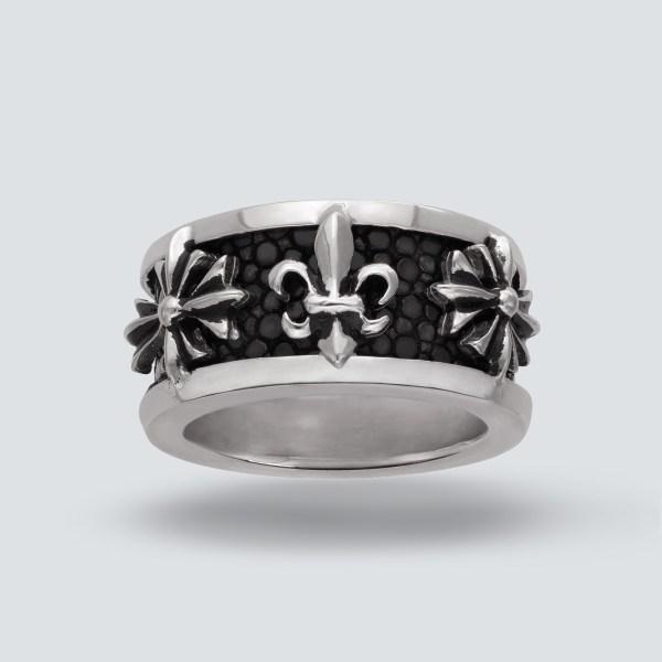 Stingray Fleur De Lys Ring