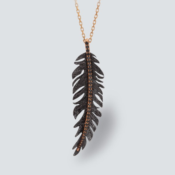 Gold Plated Feather Necklace