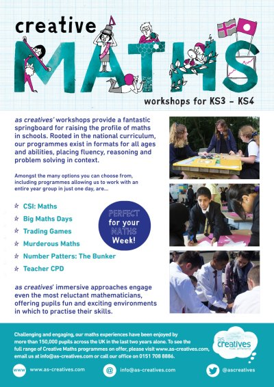Creative Maths Workshops for Secondary Schools