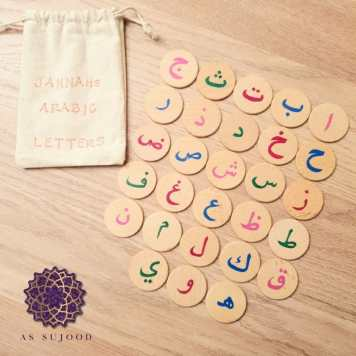 Hand-Painted Arabic Letters with Transliteration