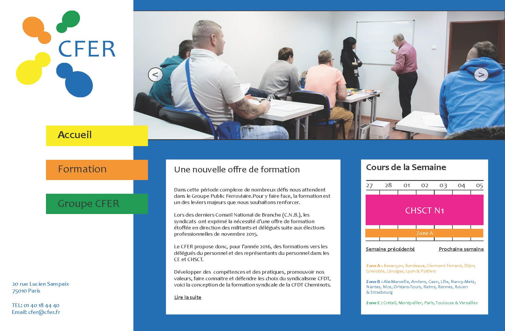 Praktik: CFER webdesign