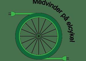 Medvinder på elcykel logo