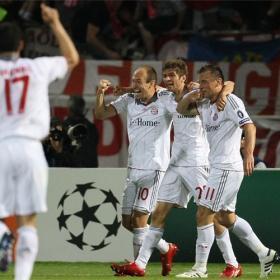 Los jugadores del Bayern celebrando un gol