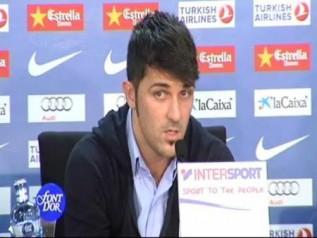 """Video: Villa, sobre el Madrid: """"Hay que ganar en el campo"""""""