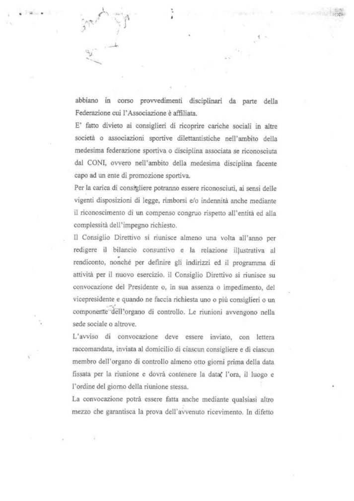 ASD 5 PARI STATUTO 13 - STATUTO