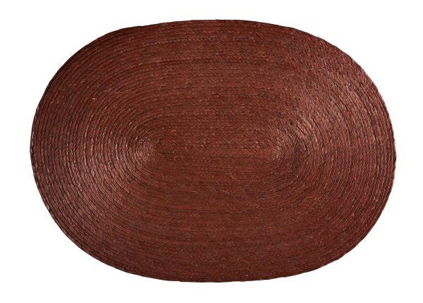 set de table ovale brun