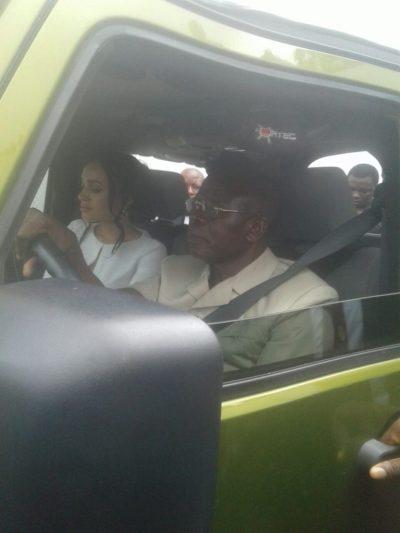 Adams Oshiomhole Driving a Car