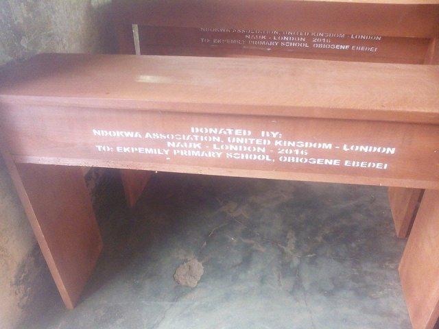 Ndokwa Association in United Kingdom Donates Desks to Pupils