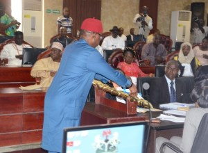 Okowa Presents 2017 Appropriation Bill To Delta State House of Assembly