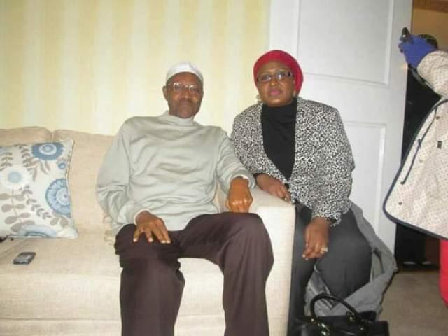 Aisha buhari and Muhammadu Buhari in London