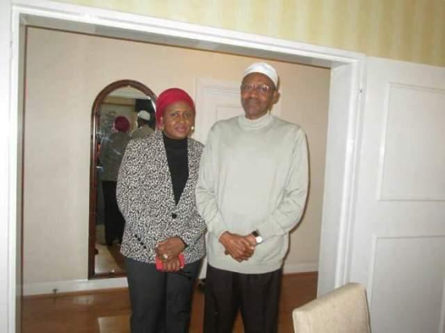 Aisha buhari and Muhammadu Buhari