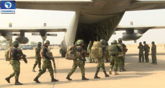Nigerian Airforce Airlifts Troops to Gambia