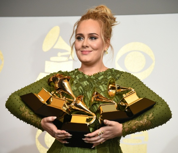 Adele at 59th Grammys