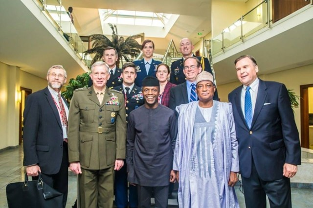 Osinbajo with US Diplomats