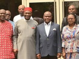 Wike and Executives of Ohaneze Ndigbo
