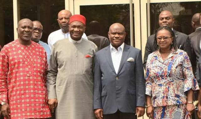 Wike and Executives of Ohaneze Ndigbo
