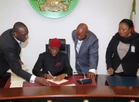 Governor Okowa Signs 2017 Budget
