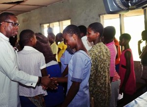 Governor Okowa and Delta State School Stdents