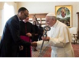 Rwandan President and Catholic Pope