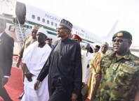 President Buhari Arrives Nigeria
