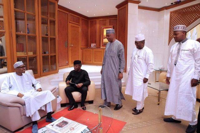 Buhari meets Osinbajo, Saraki, Dogara and Yari
