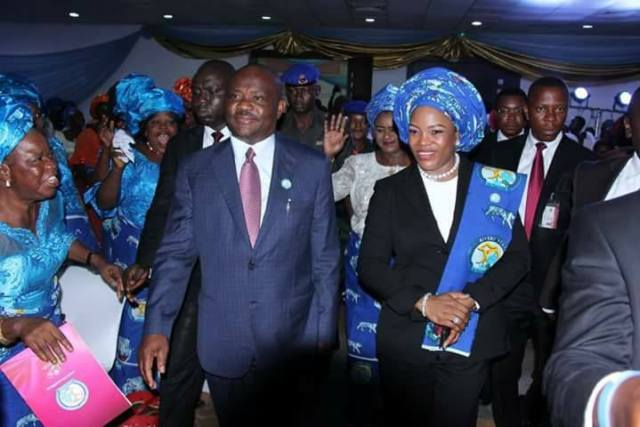 Governor Wike and Wife