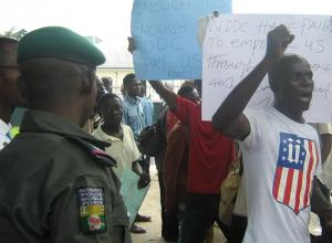 NDDC Protest at EFCC Rivers State