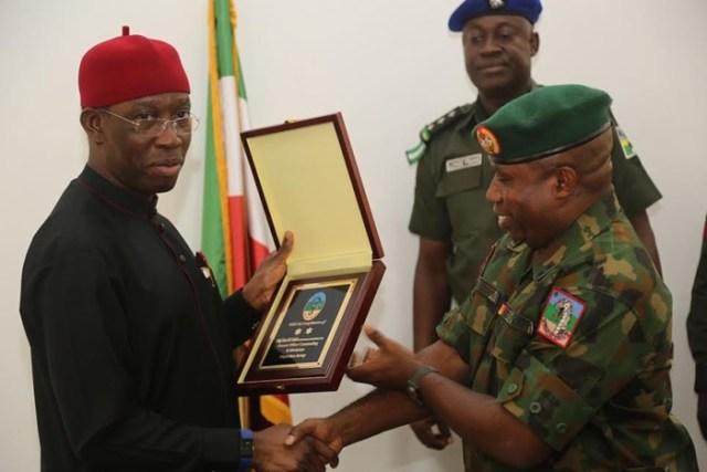 Okowa and Major General Ene Udoh