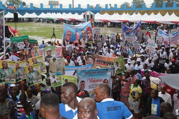 PDP Mega Rally in Sapele