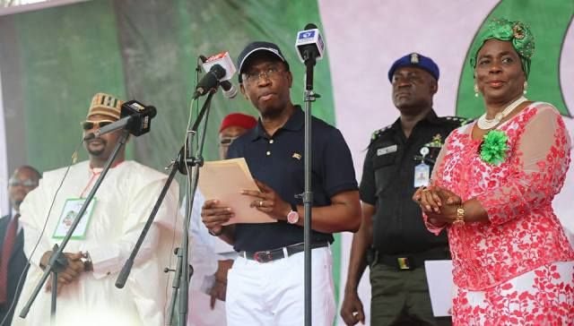 GOVERNOR OKOWA AT PDP CONVENTION 2017