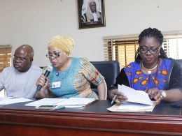 Members of DTHA Committee on Education; (L-R) Hon Evance Ivwurie, Hon Angela Nwaka and Hon Shola Daibo