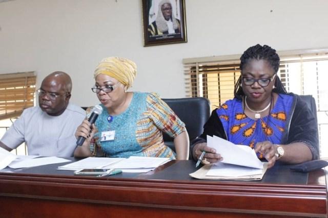 Members of DTHA Committee on Education; (L-R) Hon Evance Ivwurie, Hon Angela Nwaka and Hon Shola Daibo