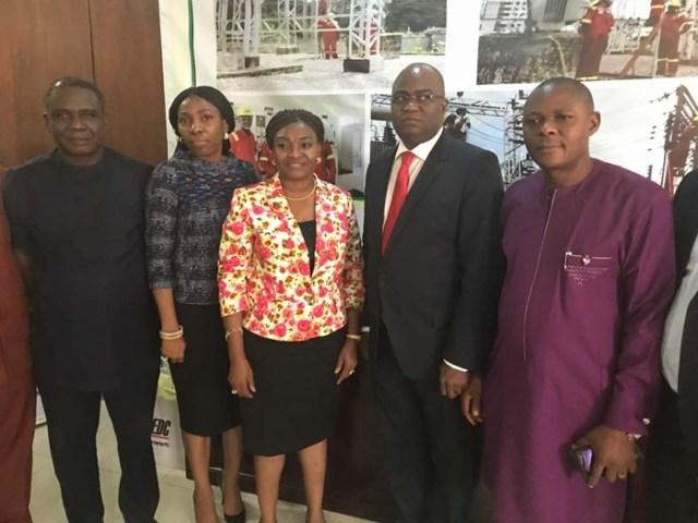BEDC Managing Director, Mrs Funke Osibodu Flanked by Delta Lawmakers and Delta Energy Commissioner