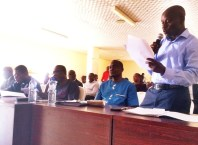 Engr Akere Kola, Consultant to the Delta State Government on Asaba Airport Project Briefing the Works Committee