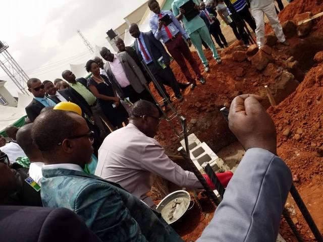 Governor Okowa laying Foundation for Delta State NMA Secretariat