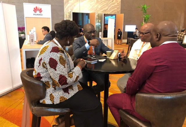 Edo State Governor, Mr. Godwin Obaseki (second left) with the state delegation to the World Cities Summit, holding from July 8-12, in Singapore.