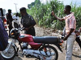 Police and Commercial Motorcyclist