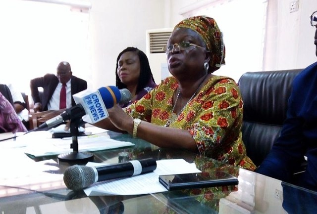 Delta State Commissioner for Women Affairs, Mrs Omatsola Williams at the 2018 Ministerial Press Briefing