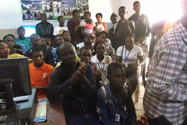 Hon. (Chief)Peter Okagbare Uviejitobor at the Graduation of 50 Udu Youths from Team Uviejitobor For Okowa Skills Acquisitions/Computer Training Program