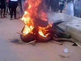 Thief Set Ablaze